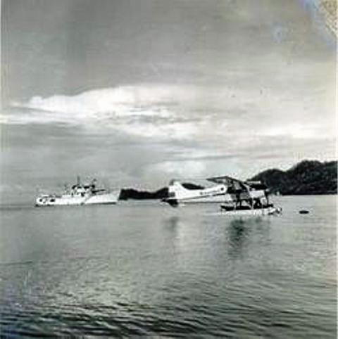Pesawat CATALINA di teluk Serui