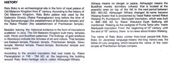 Sejarah penemuan Situs Ratu Boko